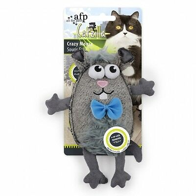All for Paws Catzilla Crazy Mouse extra großes Katzenspielzeug