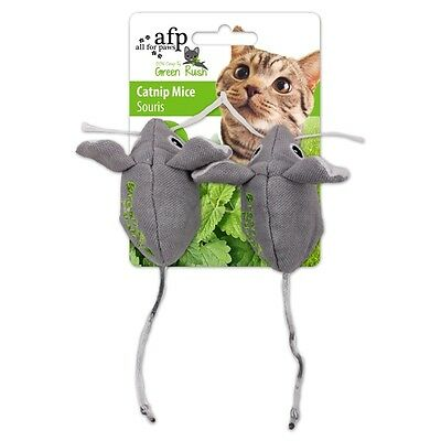 All for Paws Green Rush Catnip Mäuse - 2er Pack