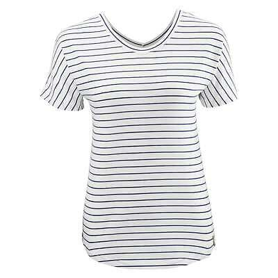 Kathmandu Adapt Womens Quick Dry Relaxed Fit Reversible T-shirt Top White Stripe
