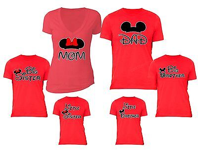 Family vacation t shirts matching Mom Dad Big Little brother Sister kids