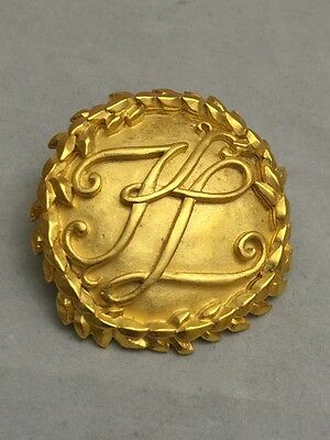 Gorgeous and Rare Vintage Karl Lagerfeld Initials Brooch