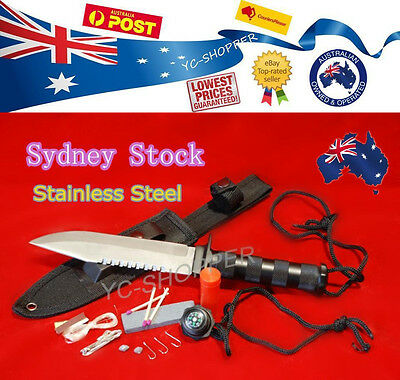 Razor Sharp - Hunting Survival Camping Military Knife with Survival Kits
