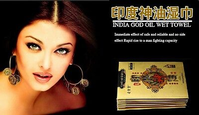 God OIL INDIA PENE Salviettine alle erbe Ritardante sessuale