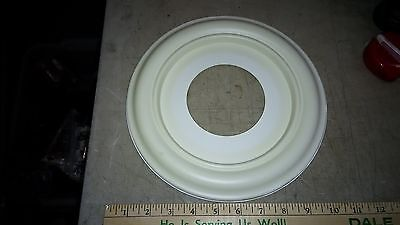 "5Yy57 Ceiling Escutcheon Trim Plate, 10"" Od, 6-1/2"" Id, 4"" Bore, Good Condition"