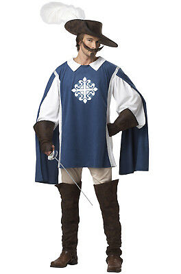 Musketeer Medieval Renaissance Adult Halloween Men Costume Hero