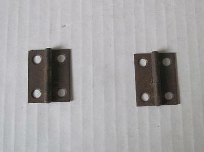 Lot of 2 Antique/Vintage Small Hinges Jewerly Box Chest Rusty           #22