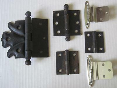 Lot of Antique/Vintage Hinges Fleur De Lis Ball Tip Small            #24