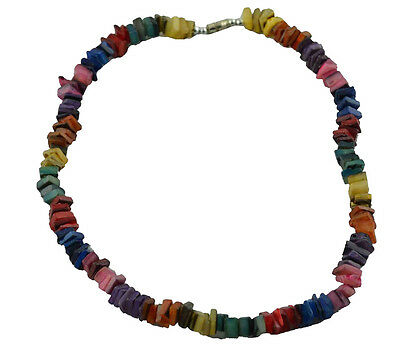 "Puka Shell 18"" Necklace-multi colors"