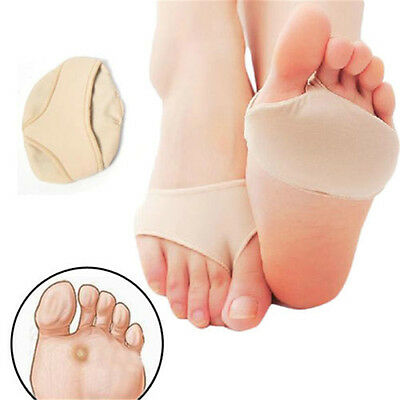 Forefoot Support Fabric Ball Of Foot Gel Pads Cushions Metatarsal Sore Hard