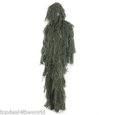 Camouflage Jungle Hunting Ghillie Suit Set Woodland Sniper Birdwatching Clothes