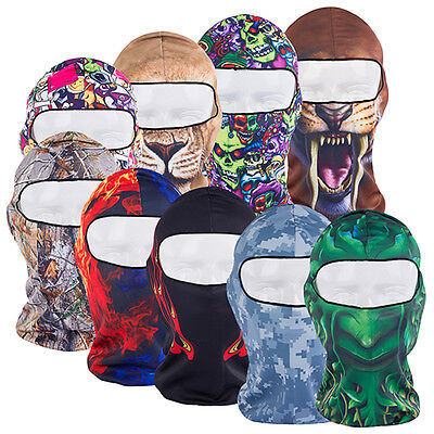 New Thin 3D Print Cycling Ski Balaclava Neck Hood Full Face Mask Hat First-Rate