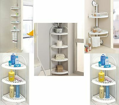Bathroom Corner, Floor Shelf Shelves Shower Suction Storage Shelving