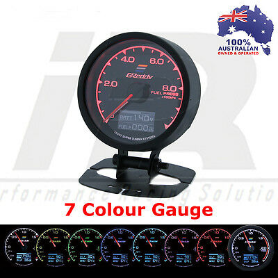 Greddy Multi D/A Fuel Pressure Digital Analog 7 Colour + VOLTS Universal Fit