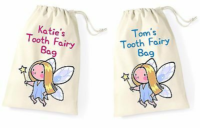 Personalised Baby First Tooth Fairy Boy Girl Child Mini Drawstring Keepsake Bag2