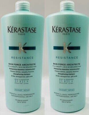 Force : 2 X NEW Bain Force Architecte 1000ML Kerastase + Free Pump