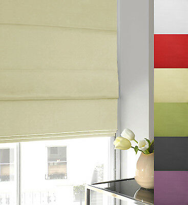 Twill Fabric Roman Blind - Fully Lined - Many Sizes & Colours