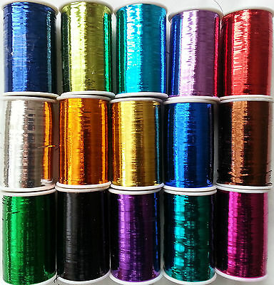 Lurex Embroidery Thread Metallic Choose any Color 2500 Meters BUY 2 & GET 1 Free