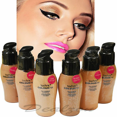 Colour Fix Full Coverage Liquid Foundation By Technic  All Shades Face MakeUp
