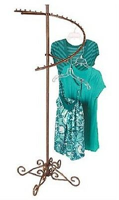 Spiral Clothing Rack Clothes Garment Retail Store Boutique Copper 29 Ball