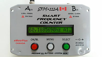 0.8999999Hz to 2.4GHz+, Portable/Bench A9+, eMetrPlus SFM+112A Frequency Counter