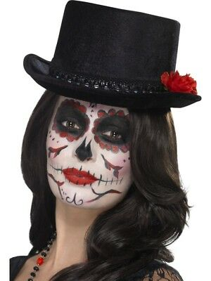 Day Of The Dead Top Hat Smiffys Fancy Dress Costume
