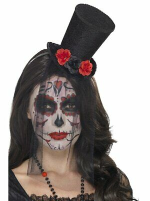 Day Of The Dead Mini Top Hat Smiffys Fancy Dress Costume