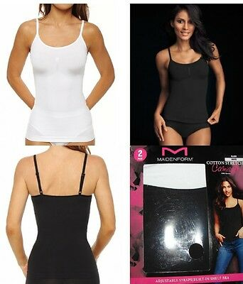 Maidenform Cotton Stretch Camisoles Layering Tank! 2 Pack