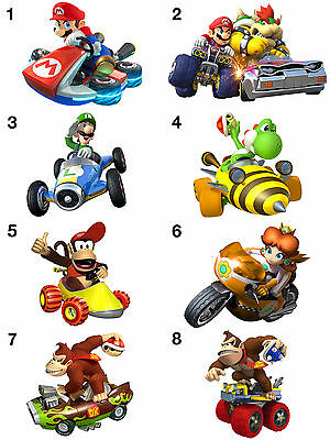 Super Mario Cart Stickers, Wall Decoration, DIY Arts & Crafts