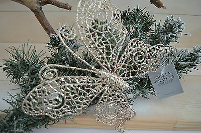 Gisela Graham Gold Glitter Double Layer Butterfly on Clip Christmas Home Decor