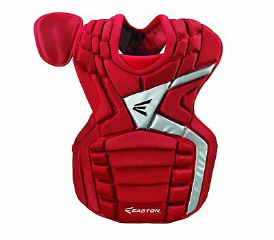 """Easton Mako youth baseball catchers gear chest protector Red 13"""" Ages 9-12"""