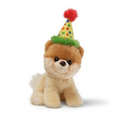 GUND Itty Bitty Boo - Wearing A Birthday Hat - The Worlds Cutest Dog - Soft Toy