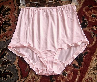 Vtg Dove Skin Pink High-Waisted Extra Soft FULL Briefs Panties Sz.6 M
