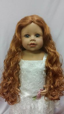 """NWT Monique Donna Carrot Doll Wig 16-17"""" fits Masterpiece Doll(WIG ONLY)"""