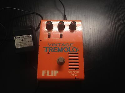 Guyatone Vintage Tremolo Flip Tube Vt-X Guitar Pedal W/adapter - Perfect Working
