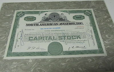 """Franklin Mint Authentic Stocks or Bonds """" North American Aviation Inc. """""""
