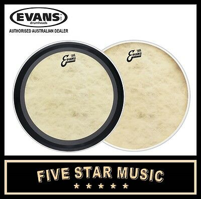"Evans Calftone Skin Set With Emad And Resonant Skins 22"" Bass Kick Drum Skins"