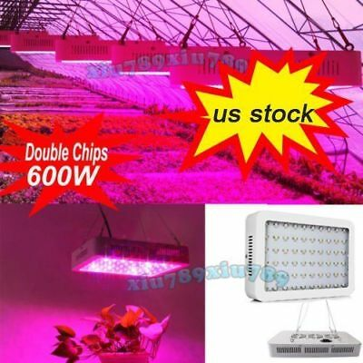 600W Indoor Full Spectrum LED Grow Light 2 Chip for Medical Plants Veg & Bloom