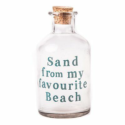Sand From My Favourite Beach Glass Bottle by Heaven Sends * Quirky Unique Gift