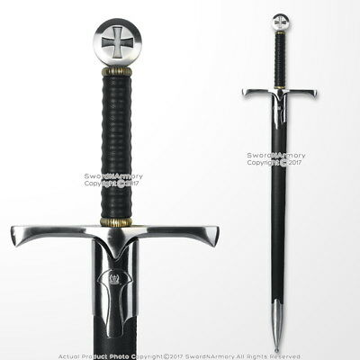 "36"" Templar Crusader Medieval Knight's Arming Sword with Scabbard Cross Pommel"