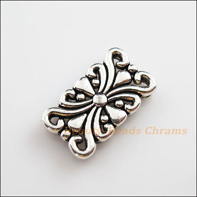 4 New Charms Tibetan Silver 5-5 Hole Flower Spacer Bar Beads Connectors 14x24mm