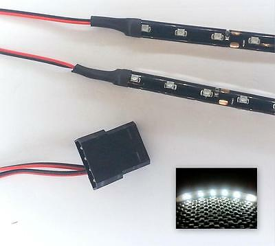 White Modding Pc Case Light Led Kit (Twin 15Cm Strips) Molex 40Cm Tails