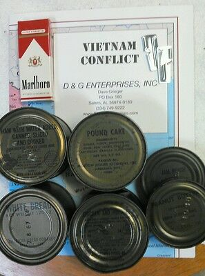 Military Vietnam USArmy USMC C-Ration C-Rations - 6 cans free P38
