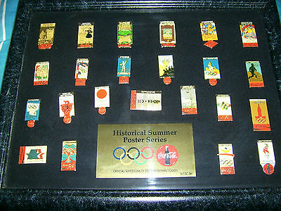 Coca Cola Olympia Summer Pin Set Im Rahmen Limited Edtion