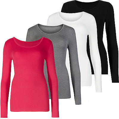 Marks & Spencer Womens Brushed Heatgen™ Thermal Long Sleeve Soft Warm M&S Top