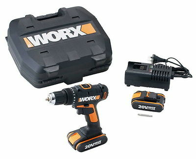 Worx WX166.1 20V Max Lithium-Ion Drill Driver | Dual Batteries | Fast Charging