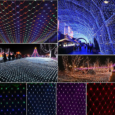 3M*2M 6M*4M String Fairy Lights Net Curtain Lamps Christmas Xmas Outdoor Garden