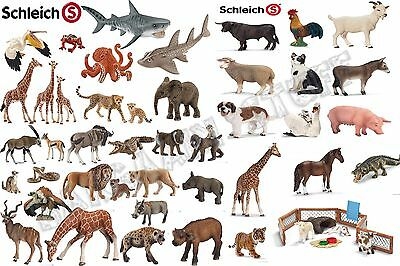 Schleich Animals Horses Tigers Alligtator Giraffe Farm Countryside Wild Ages 3+