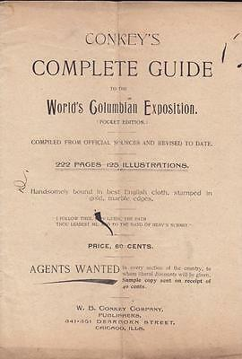 Columbian Exposition 1893 Chicago Conkey's Guide Advertising Sample Book