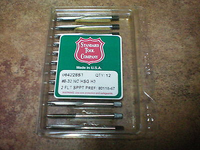 SPIRAL POINT TAPS MADE IN USA STANDARD TOOL CO. 8/32  High Speed Steel !!!!!!!!!