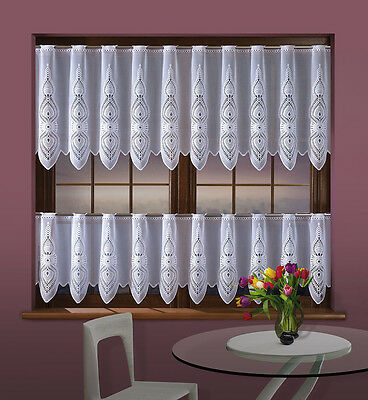 """White Cafe Net Curtain Sold by the metre 20"""" or 28"""" Drop Windows Decor Interior"""